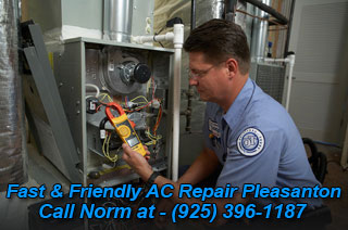 HVAC repair and central air service in Pleasanton